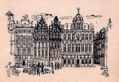 Lucien De Roeck, 'Grand-place Bruxelles', 1949