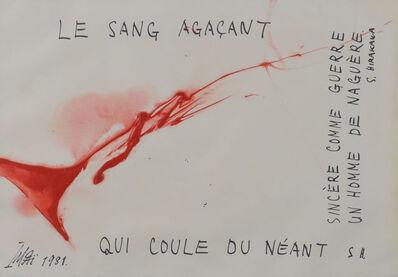 Toshimitsu Imai, 'LE SANG AGACANT', 1981