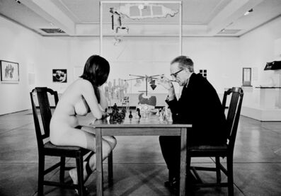 Julian Wasser, 'Marcel Duchamp And Eve Babitz playing Chess at the Pasadena Art Museum 1963', 1963