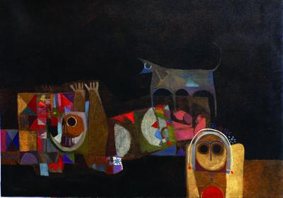 Dia Azzawi, 'Crying Wolf', 1968
