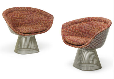 Warren Platner, 'Pair of lounge chairs'