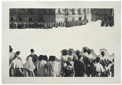 John Baldessari, 'Crowds with Shape of Reason Missing: Example 4', 2012