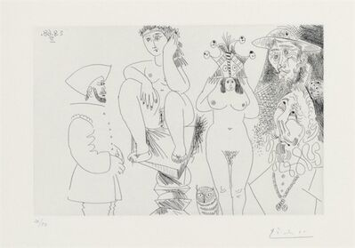 Pablo Picasso, 'TWO WOMEN, DON QUIXOTE, AN OWL AND TWO GENTLEMEN', 1968