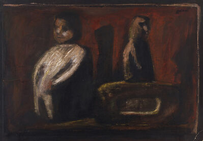 Mario Sironi, 'Interior with figures', 1948-1950