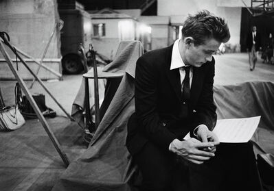 Bob Willoughby, 'James Dean reading on the set of 'Rebel Without A Cause'', 1955