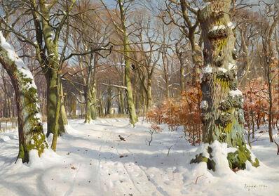Peder Mørk Mønsted, 'In Charlottenlund Forest', 1908