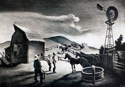 Thomas Hart Benton, 'The Corral', 1948