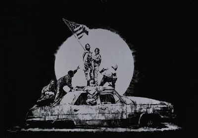 Banksy, 'Silver Flags (Unsigned Screen Print)', 2006