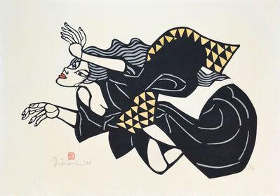 Yoshitoshi Mori, 'Hidaka River: Kiyohime turning into a snake (Print and Drawing)', 1986