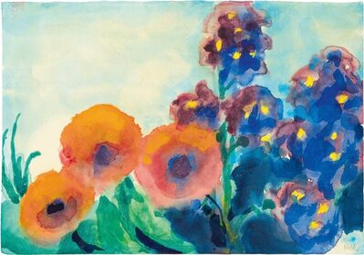 Emil Nolde, 'Poppies and Larkspur', 1951/1955