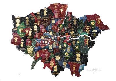 Yanko Tihov, 'London Passport Map', 2017