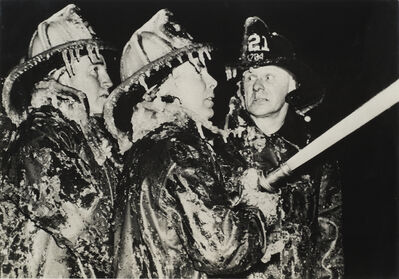 Weegee, 'On Duty in Winter (Three Firefighters)', 1944