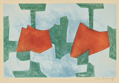 Serge Poliakoff, 'Composition in Blue, Green, and Red', 1968