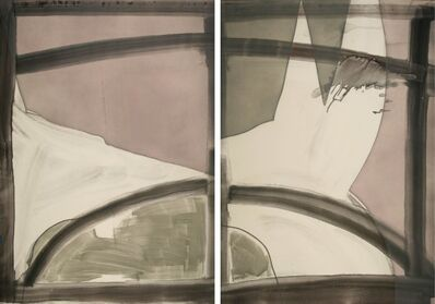 Alison Wilding, 'Dogs (diptych)', 2005