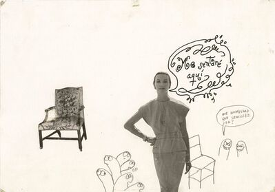 Lázaro Saavedra, 'Me sentaré aqui (série Añejo 27)', ca. 1988