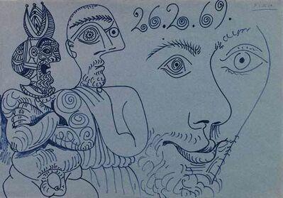 Pablo Picasso, 'Deux personnages et tête', 1969
