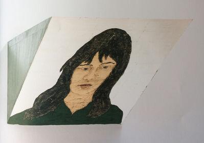 Stephan Balkenhol, 'Keilrelief, silber, Frau', 2010