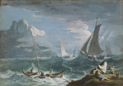 Marco Ricci, 'Fishing Boats in a Storm', 1715