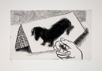 David Hockney, 'Dog Etching No. 4 from Dog Wall', 1998