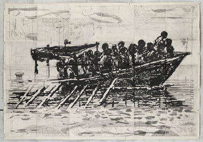 William Kentridge, 'Refugees (You Will Find No Other Seas)', 2018