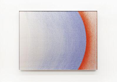 Mimi Jung, '110317 Pale Blue and Orange-Red Ellipses', 2020