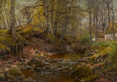 Peder Mørk Mønsted, 'A Forest Stream', 1905