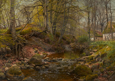 Peder Mork Monsted, 'A Forest Stream', 1905