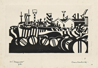Edward Wadsworth, 'S.S. Jerseymoor ', 1918