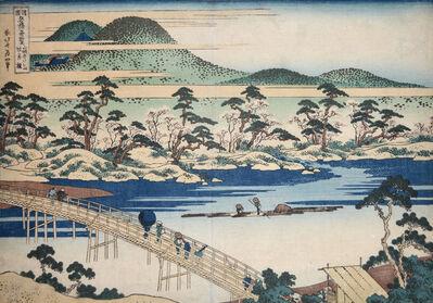 Katsushika Hokusai, 'Togetsu Bridge at Arashiyama in Yamashiro', ca. 1834