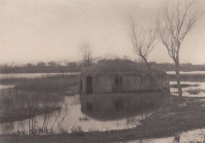 Peter Henry Emerson, 'A Reed Boat House', Neg. date: 1885 c. / Print date: 1885 c.