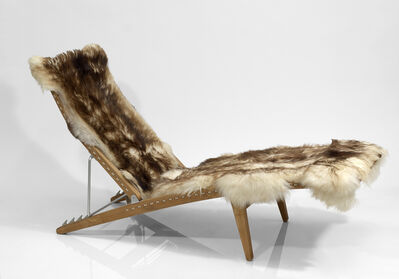 Hans J. Wegner, 'Early Adjustable Lounge Chair, model n° JH524', ca. 1959