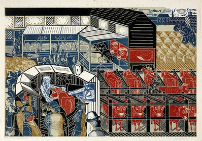 Edward Bawden, 'Cattle Market, Braintree', 1937