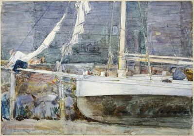 Childe Hassam, 'Drydock, Gloucester', ca. 1890s