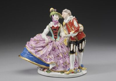 Johann Joachim Kändler, 'Beltrame and Columbine so called 'Spanish lovers'', ca. 1740