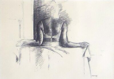 Sidney Goodman, 'Study for Woman Holding a Sheet', 1974