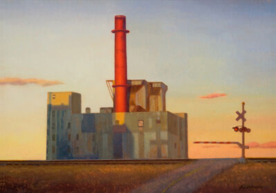 John DeMartin, 'Factory by the Railroad', 2011