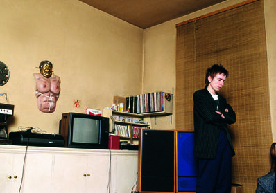 Sheila Rock, 'John Lydon (Johnny Rotten) of Public Image Ltd, ex of The Sex Pistols, in his apartment, London', 1979