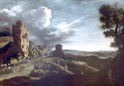 Bartholomeus Breenbergh, 'Landscape with a View of Bomarzo', ca. 1625