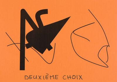 Claude Closky, 'Deuxième choix (orange vif) (e)', 2020