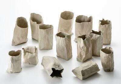 Kimiyo Mishima 三島 喜美代, 'Paper Bag 74-2~15', 1974