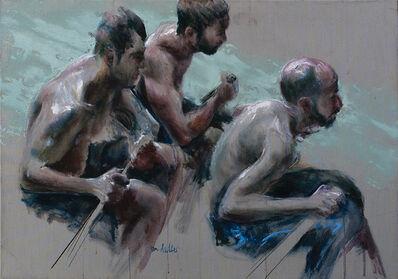 Sam Drukker, 'Roeiers blauw', 2017