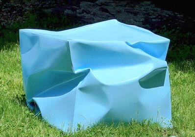 Alyson Shotz, 'Crushed Cube (blue)', 2018