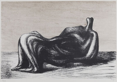 Henry Moore, 'Draped Reclining Figure', 1975