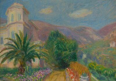 William James Glackens, 'Path to Villa Les Pivoines', 1925