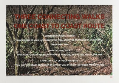 Hamish Fulton, 'Three Connecting Walks', 1986-1990