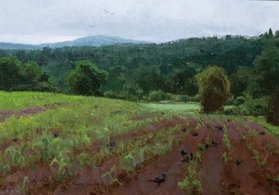 T Allen Lawson, 'Crows and a Cornfield', 2002