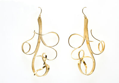 "Jacques Jarrige, 'Gold Plated Earrings by Jacques Jarrige ""Fiori""', 2016"
