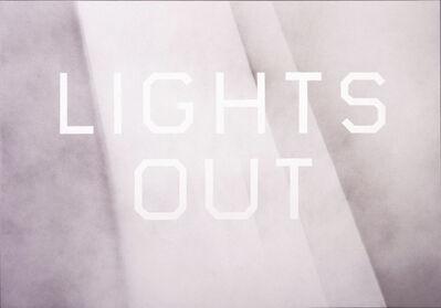 Ed Ruscha, 'Lights Out', 2008