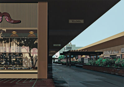 Richard Estes, 'Lakewood Mall, from Urban Landscapes No. 3', 1981