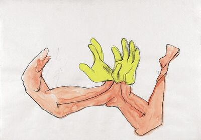 "Maria Lassnig, '""A Pair of Gloves"" for Parkett 85', 2006/2009"